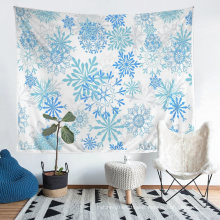 3D Printed Cartoon Christmas Pattern Tapestry, Apply to Home Decoration