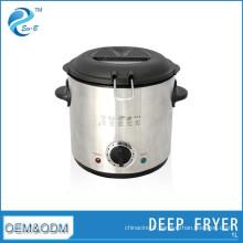 Petite machine de friteuse à la maison ronde en acier inoxydable de la famille 1L de Chine