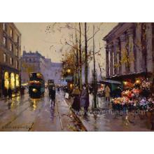 Echte Handgemalte Pariser Szenen Malerei