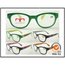 Vente chaude et design de mode avec des lunettes de lecture de transfert de timbre chaud (MRP21493)