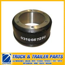 Pièces de remorque du tambour de frein 0310667290 pour BPW