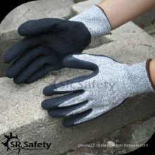 SRSAFETY 13G трикотажные латексные латексные лакированные рабочие перчатки / режущие перчатки