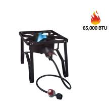 16″ square high pressure single burner