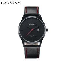 6865 модные Мужские наручные часы на 42 мм Кожаный ремешок