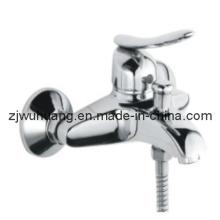 Misturador de banho-chuveiro de alça de material único de bronze (WH8804C)