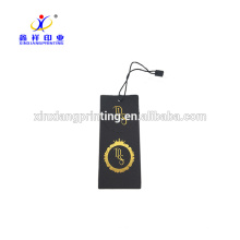 Marke Jean Kleidung schwarz Papier Hang Tag mit Custom Design