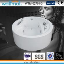 Freestanding Acrylic Whirlpool Bathtub Round (WTM-02704-3)
