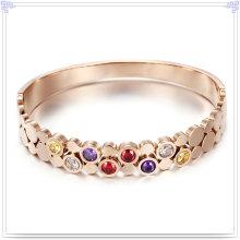 Bijoux en cristal Bijoux fantaisie Bracelet en acier inoxydable (BR573)