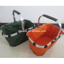 Fabricante Preço Large Space 600D cesta de piquenique dobrável