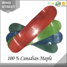 2017 Hot sale Blank 100 % Canadian Maple Complete Skateboard deck