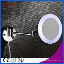 Fyeer Single Side - Espejo cosmético redondo plegable de 8 pulgadas LED