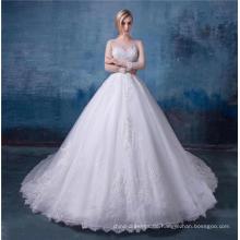 Boho Country Brautkleid mit langen Ärmeln A Line Juwel Spitze Boho Brautkleider 2018