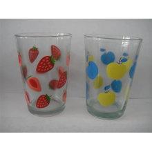 8 Oz copos impressos, copo de vidro impresso, Copo de vidro impresso