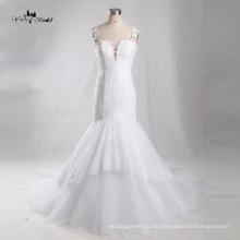 TW0180 Sexy Nixe Brautkleid Elegantes Backless Kleid mit V-Ausschnitt