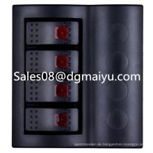 Caravan Kombinierte Automotive Switch 4 Gang Wippschalter Panel mit roter LED