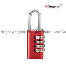 4 Digit Colorful Aluminum Code Combination Lock for Luggage 21mm