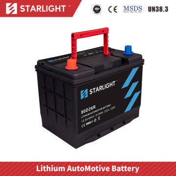 Batterie de voiture au lithium-ion 12V 80D26R / batterie LiFePO4