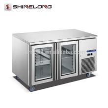 FURNOTEL Refrigeration Equipment Industrial Freezer 2 Glass Under Counter Refrigerator FRUC-7-1