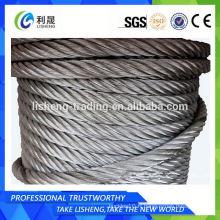 Câble de fil d'acier galvanisé non rotatif 19x7