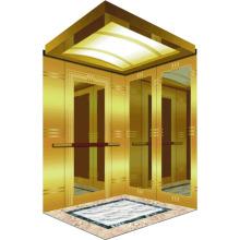 0.25-0.5 M / S Casa Pequeña Villa Ascensor con cabina dorada