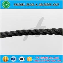 3 brins 5mm noir couleur pp recyclé corde