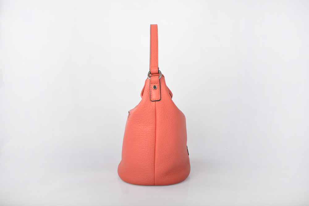 Popular women colorful shoulder belt leather bucket bags