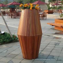 Caixa de flor popular jardim quadrado
