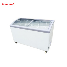 Supermarket Curved Lid Icecream Refrigerator Freezer