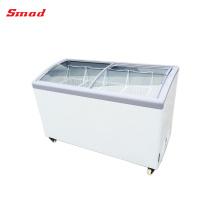 Supermarket Curved Lid Icecream Refrigerator Freezer