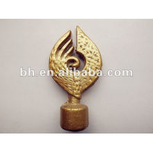 royal gold iron curtain finial,cutting rod,motor electric