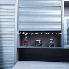 persianas enrollables de gabinete de aluminio
