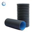 Large diameter 300mm hdpe pipe plastic drain pipe 6m standard length