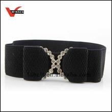 Elegant Black womens wide elastic belt