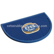 semicircle beer mat, customized shaped bar mat