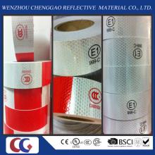 Rot und Weiß PVC Reflexfolie mit Crystal Lattice