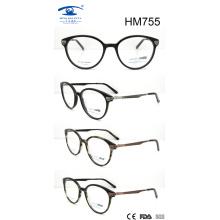 Новые дизайнерские оптические очки с ацетатом горячей продажи (HM755)