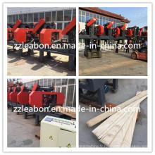 Machine horizontale de sciage de bois à plusieurs têtes
