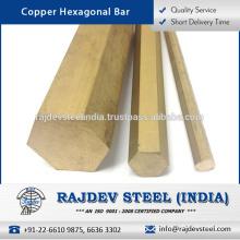 La mejor calidad Bajo mantenimiento Fácil de unir / instalar la barra hexagonal de cobre