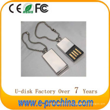 La venta caliente modifica para requisitos particulares la impulsión USB de la pluma del metal del logotipo para la promoción