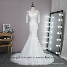 Lace Mermaid Wedding Dress with Long Sleeves Custom Made