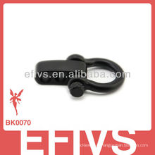 Primavera 2013 manilha ajustável preto para pulseira paracord