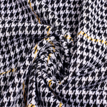 Customized Knitted Plaid Polyester Jacquard Fabric