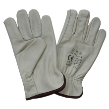 Wing Thumb Driving Safety Gloves Nature Cow Grain Leather Working Gloves
