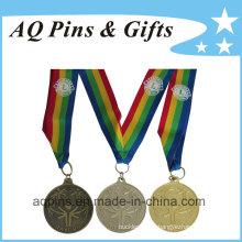 Medalha de esportes por atacado com fita impressa de 4 cores