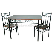 1 + 2 table à manger en verre réglable 2 chaises