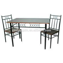 1 + 2 mesa de jantar de vidro set 2 cadeiras