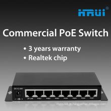 Interruptor de ethernet de rede de baixo custo passivo 8 portas poe 12v