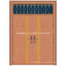Puerta de cobre metálico del metal de la seguridad de la hoja de la ventana del arte (W-GB-13)