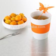 Keramischer Tee 280CC mit Silikon infuesr, Tee Tasseninfuser,