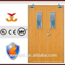 Puerta clasificada fuego de madera del marco de BS de la alta calidad